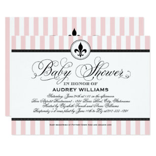 French baby shower invitations zazzle pink baby shower invitation french stripes filmwisefo
