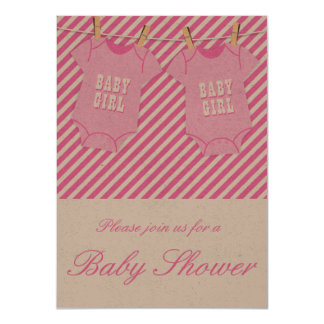Pink Baby Shower Invite OPT 5 Twins