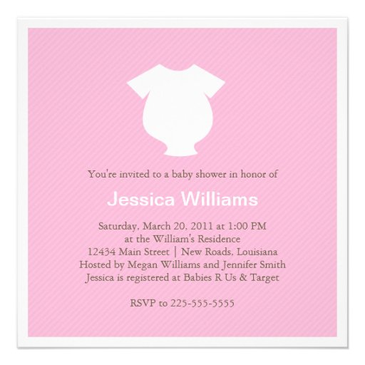 pink baby shower personalized invitations zazzle