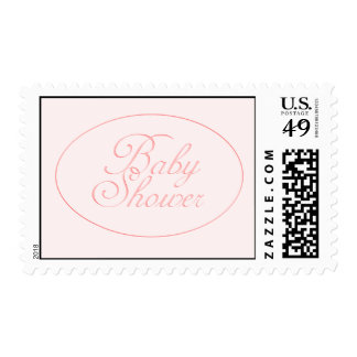 Pink Baby Shower Postage Stamp