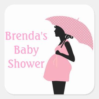 Pink Baby Shower Sticker