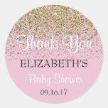 Pink Baby Shower Thank You Sticker