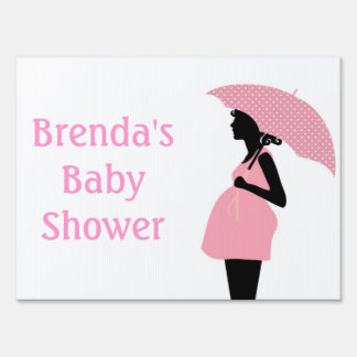 Pink Baby Shower Yard Sign