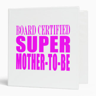 Pink Baby Showers Gifts : Super Mother to Be 3 Ring Binder