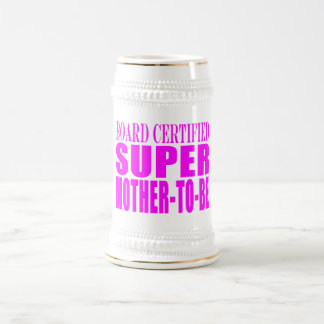 Pink Baby Showers Gifts : Super Mother to Be Beer Stein