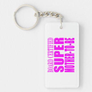 Pink Baby Showers Gifts : Super Mother to Be Keychain