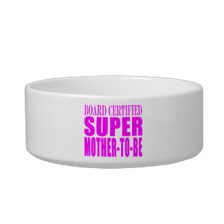 Pink Baby Showers Gifts : Super Mother to Be Pet Food Bowl