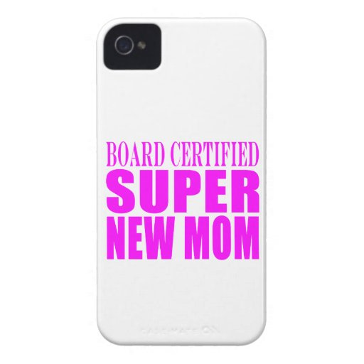 Pink Baby Showers Gifts : Super New Mom iPhone 4 Cases
