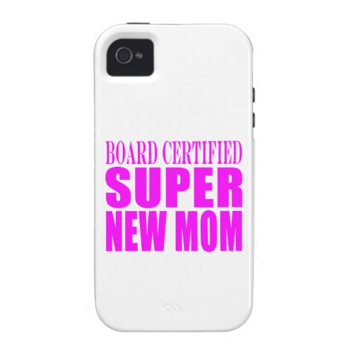Pink Baby Showers Gifts : Super New Mom iPhone 4/4S Covers