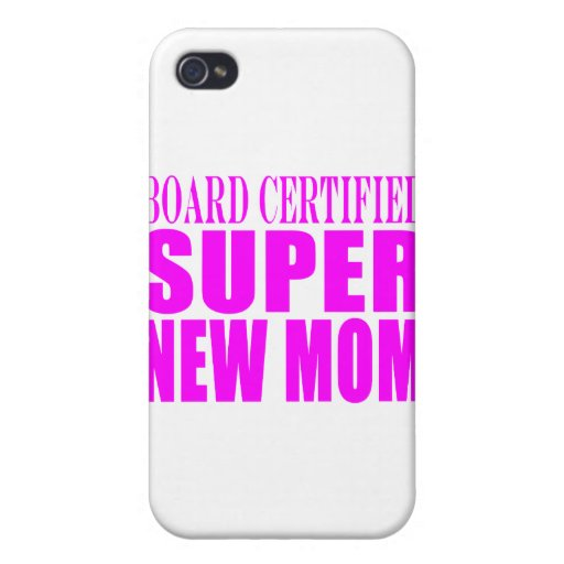 Pink Baby Showers Gifts : Super New Mom iPhone 4 Covers