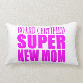 Pink Baby Showers Gifts : Super New Mom Throw Pillow