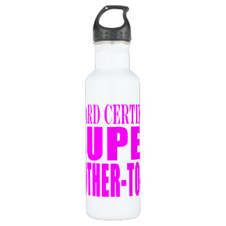 Pink Baby Showers : Super Mother to Be Water Bottle
