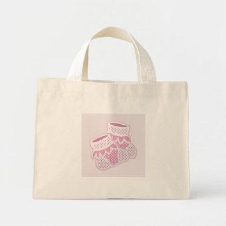 pink baby socks tote bags
