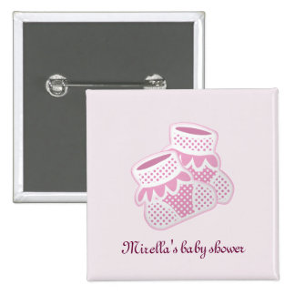 pink baby socks pinback button