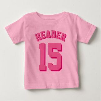 Pink Baby | Sports Jersey Baby T-Shirt
