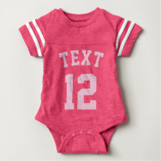 Pink Baby | Sports Jersey Design Baby Bodysuit at Zazzle