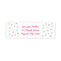 Pink Baby Sprinkle Address Label