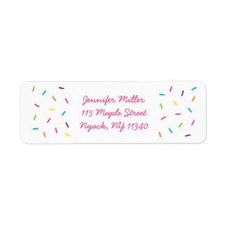 Pink Baby Sprinkle Address Label