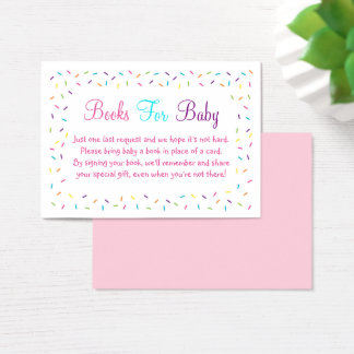 Pink Baby Sprinkle Book Request Cards