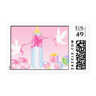 Pink Baby Theme Postage