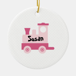 Pink Baby Toy Train Ornament