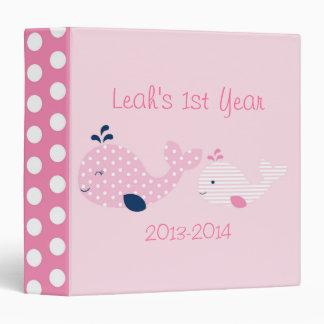 Pink Baby Whale Baby Photo Album Binder