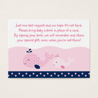 Pink Baby Whale Book Request Cards