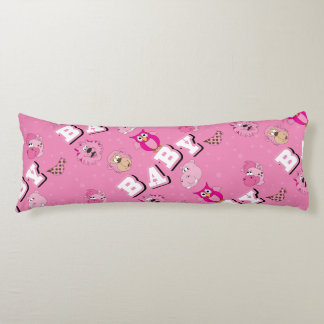 Pink Baby Zoo Animals Body Pillow
