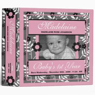 Pink Baby's 1st Year Photo Scrapbook Binder