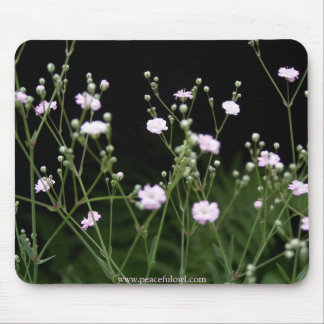 Pink Baby's Breath Mouse Pad
