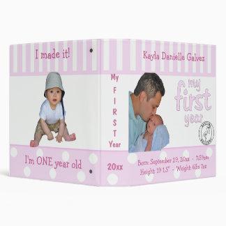 Pink Baby's First Year Keepsake Album Binder