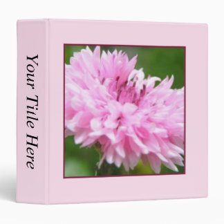 Pink Bachelor Button 3 Ring Binder