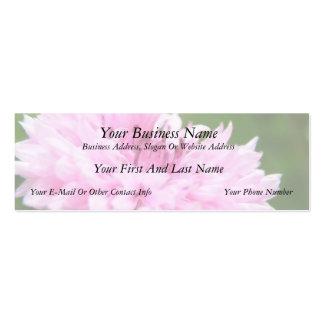 Pink Bachelor Button Mini Business Card
