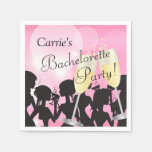 Pink Bachelorette Party - Girls Night Out Paper Napkin