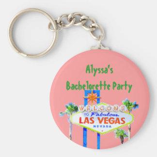Pink Bachelorette Party in Las Vegas Keychain