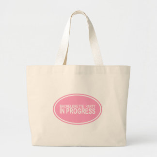 Pink Bachelorette Party in Progress Tees Gifts Jumbo Tote Bag