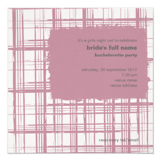 Pink  Bachelorette Party Invitation