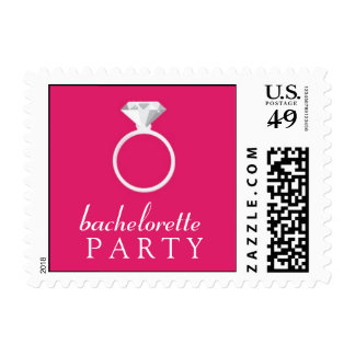 Pink Bachelorette Party Small Stamp