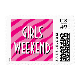 Pink bachelorette party stamps for girls weekend