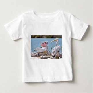 Pink-backed Pelicans Baby T-Shirt