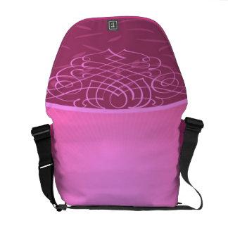 Pink Background Rickshaw Messenger Bag