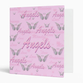Pink Background with Angel WIngs Binder