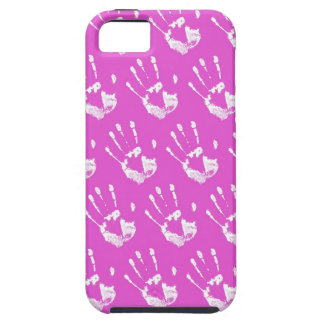 Pink background with handprint iPhone SE/5/5s case