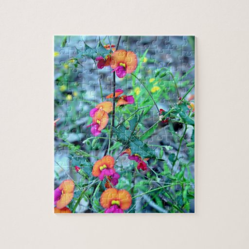 Pink Bacon and Egg flowers Jigsaw Puzzles