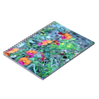 Pink Bacon and Egg flowers Spiral Notebook
