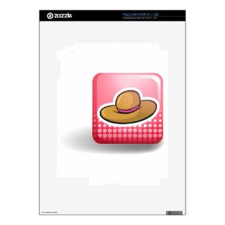 Pink badge with brown hat iPad 2 skins