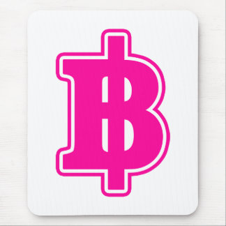 PINK BAHT SIGN ฿ Thai Money Currency ฿ Mouse Pad