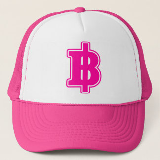 PINK BAHT SIGN ฿ Thai Money Currency ฿ Trucker Hat