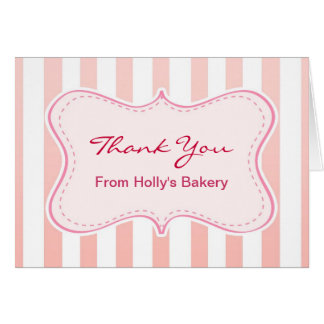 pink bakery cafe note card