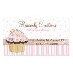 Pink Bakery Cupcake Business Card